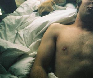 bed, hot body, and sleep image