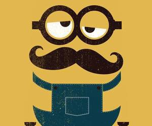 minions, yellow, and mustache image