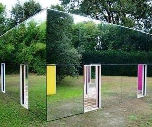 mirror, house, and mirror house image
