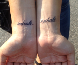 exhale, hands, and tattoo image