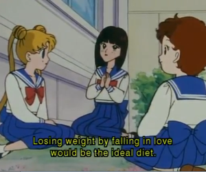 sailor moon, anime, and diet image