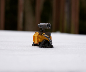 robot, snow, and toy image