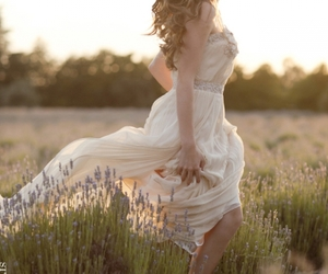 dress, beautiful, and hair image
