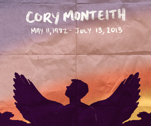 cory monteith, glee, and rip image