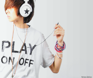 asian, boy, and music image