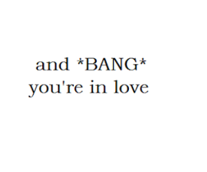 love, bang, and quote image