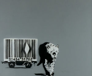 BANKSY, 2000, and bar code image