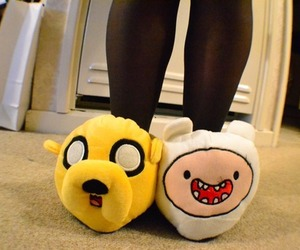 adventure time, slippers, and JAKe image