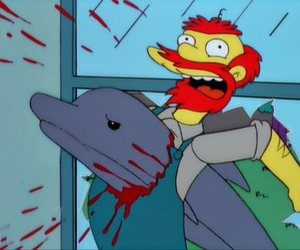 the simpsons, blood, and dolphin image