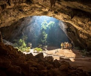 thailand, cave, and Temple image