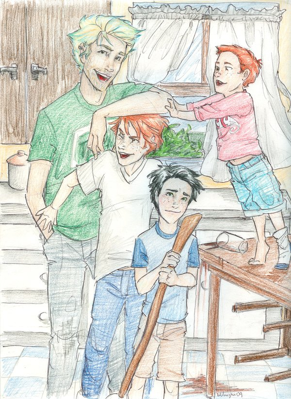 Lily and brothers by x8xdanix6x on DeviantArt Lily Luna ... |Teddy Lupin And Lily Luna Potter