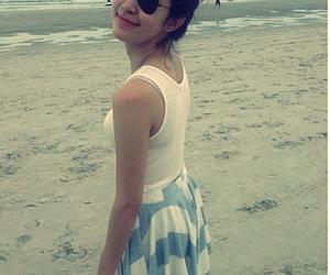 beach, girl, and mo image