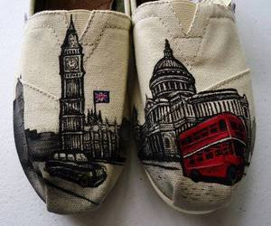 london, toms, and shoes image