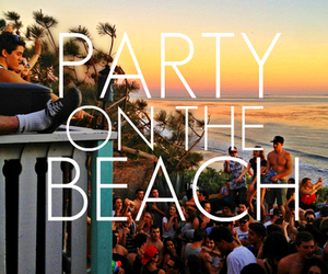 beach, love, and house party image