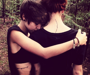 lesbian, love, and couple image