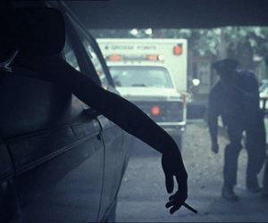cigarette, car, and suicide image