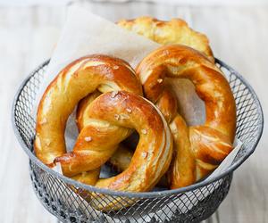 food, pretzel, and bread image