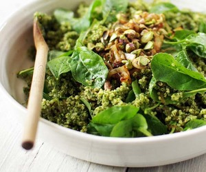 green, vegan, and quinoa image