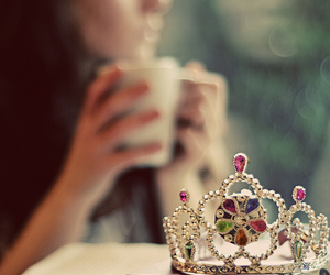 coffee, crown, and fairetales image
