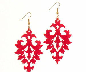 fashion jewelry, long earrings, and statement jewelry image