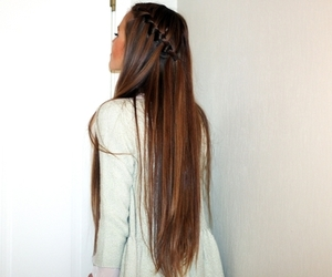 hair, long hair, and girl image