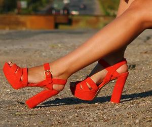 girl, heels, and neon image