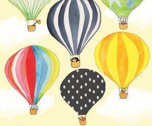 adorable, house, and balloon image