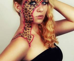 blond, face painting, and girl image
