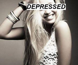 depressed, depression, and sad image