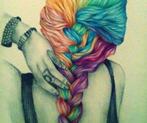 art, beautiful, and braid image