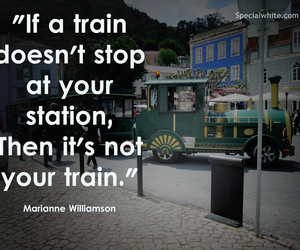 quote, train, and station image