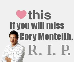 cory monteith, rip, and glee image