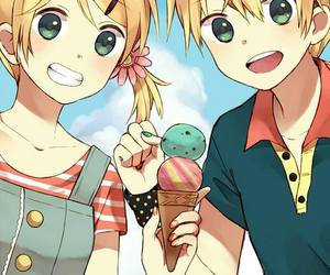 vocaloid, rin, and ice cream image