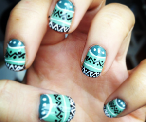nails, blue, and colors image
