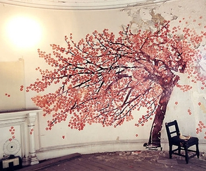 tree, room, and pink image