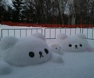 bear, kawaii, and snow image