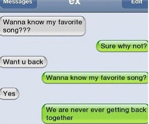 ex, funny, and Taylor Swift image