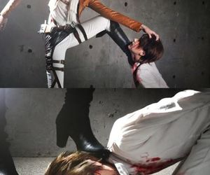 cosplay, eren jeager, and yaoi image