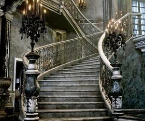 stairs, gothic, and staircase image