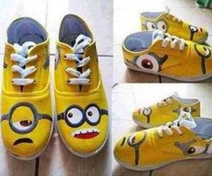 minions, shoes, and yellow image