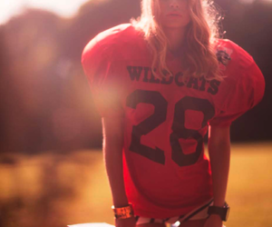 girl, football, and blonde image