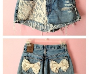 shorts, bow, and lace image