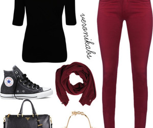 converse, fashion, and red image