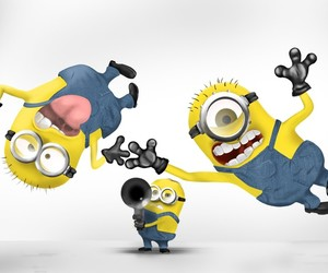 minions, funny, and crazy image
