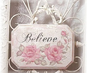 believe, pink, and vintage image
