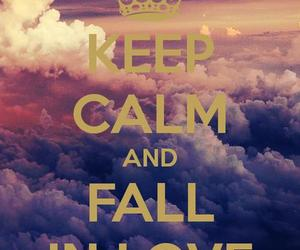 love, keep calm, and fall in love image