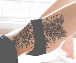 awesome, black, and flower image