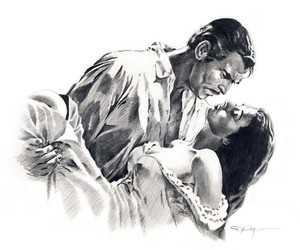 beautiful, clark gable, and draw image