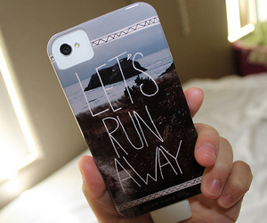 iphone, case, and let's run away image