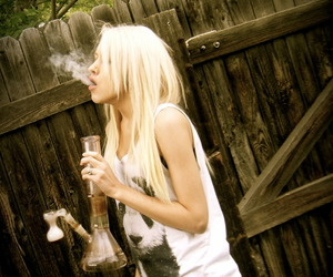 blonde, bong, and girl image